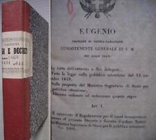 150° unità d'Italia Regi leggi decreti 1860 ott.-nov.