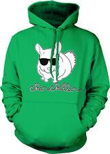 Chinchillin Chilling Chinchilla Like Villain Rodent Sunglasses Hoodie Sweatshirt