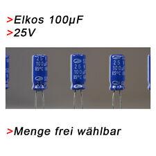 ELKO Kondensatoren 100 µF 25V (BIS 25V) Elkos Elektrolytkondensator 100µF uF