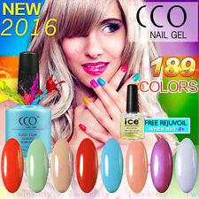CCO Nail Polish UV Gel Official 2018 New 189 Colours Top Base Coat 7.3ml Genuine
