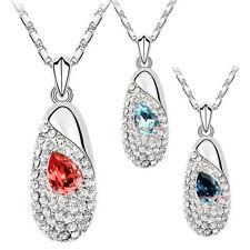 Collana Da Donna Cristallo SWAROVSKI Elements Ciondolo Elegante A129 Vari
