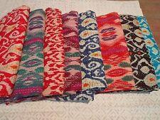Quilt Vintage Bedspread Indian Handmade Kantha Throw Cotton Blanket Gudri