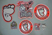 CHOICE of: Amarillo Gorillas CHL Throwback Hockey Jersey Jacket Patch Crest