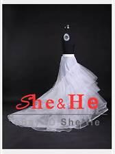 2 HOOP Multi Layer Train Wedding Ball Gown Crinoline Petticoats Prom Bridal Slip