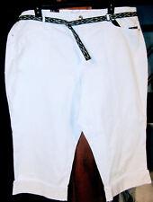 GLORIA VANDERBILT SHELL WHITE PLUS WOMANS 22W SUMMER CAPRI WIT PATTY BELT NWT
