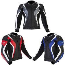 Spada Curve Leather CE Armoured Windproof Sports Motorbike Motorcycle Jacket