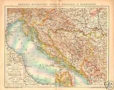 """F.A.Brockhaus 1905 """" Bosnien :Dalmatien Etc """" German"""