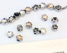 Genuine SWAROVSKI 81961 BeCharmed Edelweiss Crystal Beads 13.5mm Stainless Steel