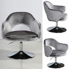 Poltrona di design in tessuto lucido grigio per arredo casa e ufficio