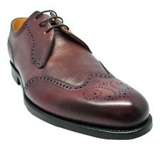 Barker Weymouth Derby Shoe in Cherry Calf/ Grain Leathers