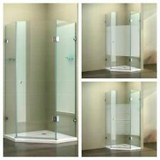 Fünfeck Eckdusche Duschkabine Duschabtrennung Duschwand ESG Dusche Glas