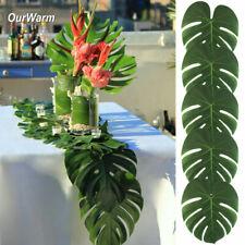 60X Tropical Hawaiian Artificial Palm Leaves Jungle Foliage Luau Party Decor