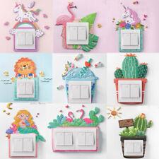 Unicorn Light Switch Sticker Decal Art Surround Kids Bedroom Room Socket Decor