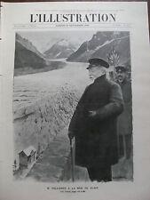 ILLUSTRATION 1910 N 3524 M. FALLIERES A LA MER DE GLACE