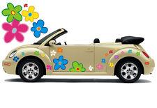 Hippie Blumen Auto Aufkleber Blumenaufkleber Flower Power: Hippie Flower Set 034