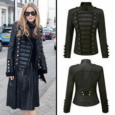 Olivia Palermo Napoleon Military Unifrom Style Fashionable Women Leather Jacket