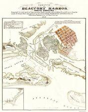 Beaufort Harbor  North Carolina - Tompson 1854 - 23 x 29.25