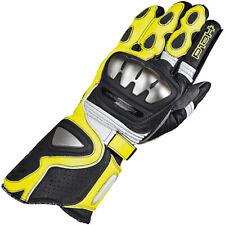 Held Titan Leather Motorcycle Race Glove - Black / Fluorescent Yellow