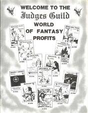 D&D Judges Guild 1982 Games Catalog Promotional!