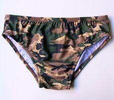 MENS Swim Brief Swimsuit in Camouflage Print in S-M-L-XL