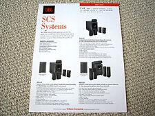 JBL SCS Systems home theatre speaker brochure
