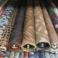 2020 di marca Marrone Fiori Foglie damascato di cotone per tende arredamento rivestimento in tessuto
