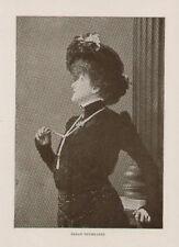 Sarah Bernhardt Actress Theatre Antique Art Print Rare
