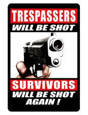 NO TRESPASSING Custom Sign..Keep Criminals Away...Hi Gloss..NO RUST Aluminum.agn