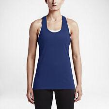 New NIKE PRO WOMEN'S sleeveless TRAINING TOP/sport tshirt/blue/gym/run/yoga/run
