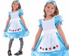 Child STORYBOOK ALICE in Wonderland Fancy Dress Costume Girls Book Week Age 3-10
