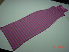 NWT Womens Juniors Size Derek Heart Maxi Dress Lace Pink Gray Stripe Fashion