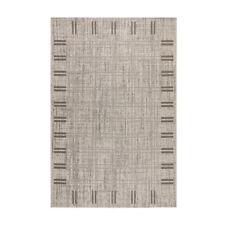 Sisal-Look Flachgewebe Teppich Lux Frame 1 - Farbe: Grau   robuste Kunstfaser