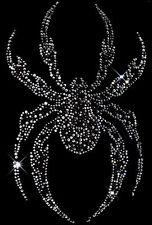 Black Crystal Spider Rhinestud Rhinestone T-Shirt PLUS SIZE -or- SUPERSIZE T246F