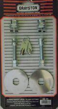 Grayston Pack de 2 Cromo Plateado aplique ENCASTRADO placa Bonnet arranca bloqueo Pins Par