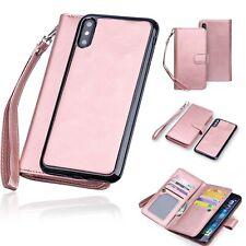 iPhone 11 Xs 8 Wallet Magnetic Detachable Slim-Case Luxury Vegan RFID Leather-AU