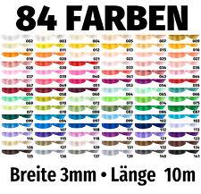 10m x 3mm Satinband Schleife Band Dekoband Geschenkband Deko 84 Farben zur Wahl