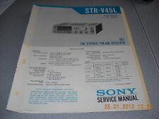 SONY STR-V45L FM Stereo / FM-AM Receiver Service Manual inkl. Service Info
