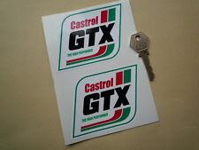 "CASTROL GTX Parallelogram Style CAR STICKERS 4"" Motor Oil Race Rally Racing Bike"