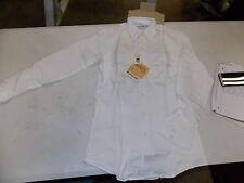NOS Vintage Horace Apparel Work Wear Uniform Blue Collar Small White Shirt