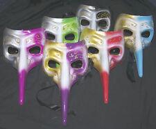Masquerade Mask Long Nose Venetian Wedding Masked Ball Mardi Gras Mens Womens