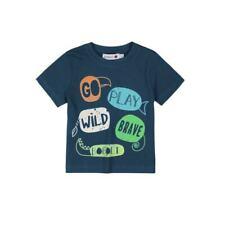 boboli Camiseta Niños Go Play manga corta azul talla 68 74 80 86 92