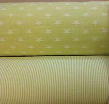 Ashley Wilde Stars+Stripes Newport/Balboa Colour Woven Cotton Fabric SORBETLemon