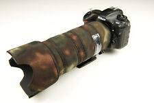Nikon 70 200mm f2.8 FL ED VR Neoprene Camo lens cover protection Premium fabrics