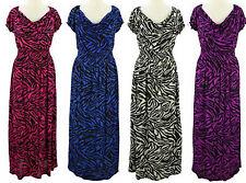 Womens Summer Dress Sundress 2X 3X 4X Plus Size Long Zebra