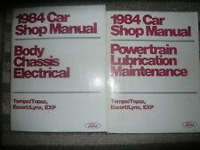 1984 Ford Tempo Mercury Topaz Service Shop Repair Manual Set Factory Books Oem