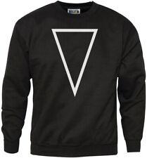 Forma geométrica-boca abajo Triángulo de impresión sudadera para hombre Hipster Juventud &