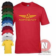 AEROFLOT retro cold war USSR communist cool T-shirt airline airport plane travel