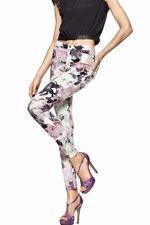 HUE Sweet Lilac Floral Super Smooth Stretch Denim Legging U15379 - MSRP $44