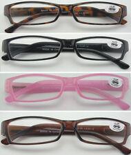 L34 Plastic Frame Reading Glasses Classic Style Design Spring Hinges Super Value