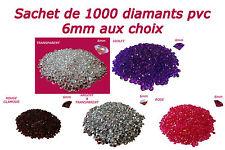 1000 DIAMANTS PVC 6mm 1CT DÉCORATION DE TABLE - mariage fiançailles baptême